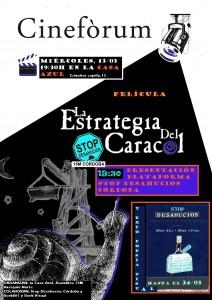 """Cartel Cineforum """"La Estrategia del Caracol"""""""