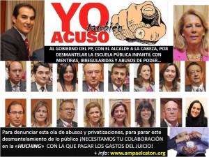 Cartel del AMPA el Catón para la campaña de denuncia judicial por el cierre de la Escuela Municipal Infantil de Córdoba